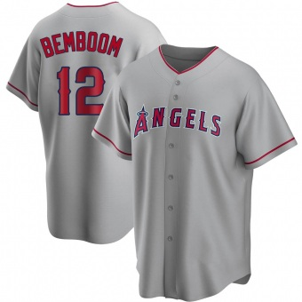 Men's Anthony Bemboom Los Angeles Replica Silver Road Baseball Jersey (Unsigned No Brands/Logos)