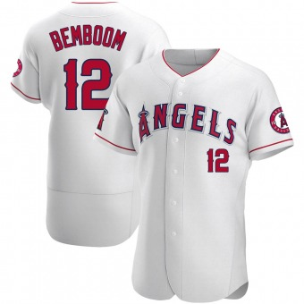 Men's Anthony Bemboom Los Angeles White Authentic Baseball Jersey (Unsigned No Brands/Logos)