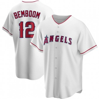 Men's Anthony Bemboom Los Angeles White Replica Home Baseball Jersey (Unsigned No Brands/Logos)