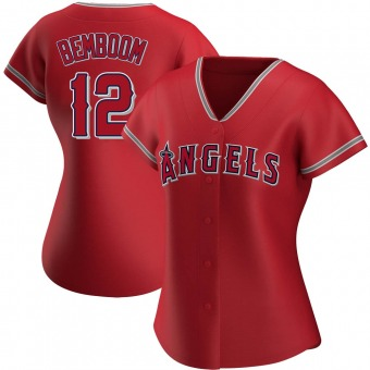 Women's Anthony Bemboom Los Angeles Red Authentic Alternate Baseball Jersey (Unsigned No Brands/Logos)
