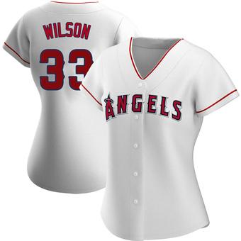 Women's C.J. Wilson Los Angeles White Replica Home Baseball Jersey (Unsigned No Brands/Logos)