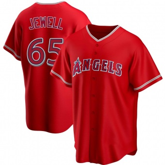 Youth Jake Jewell Los Angeles Red Replica Alternate Baseball Jersey (Unsigned No Brands/Logos)