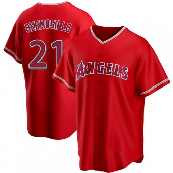 Youth Michael Hermosillo Los Angeles Red Replica Alternate Baseball Jersey (Unsigned No Brands/Logos)