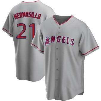 Youth Michael Hermosillo Los Angeles Replica Silver Road Baseball Jersey (Unsigned No Brands/Logos)